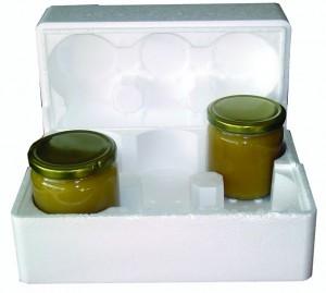 Letvægtsæsken til 6 glas giver en god beskyttelse. Her vist på et reklamefoto fra en leverandør.